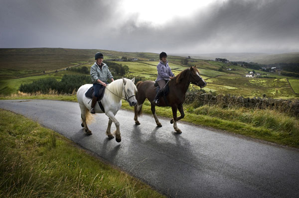 Pony Trecking and Cycle routes nr Nenthead, Hartside and Unthank.